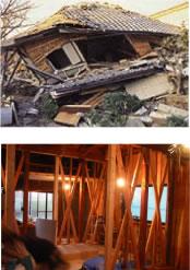 地震と壁補強イメージ