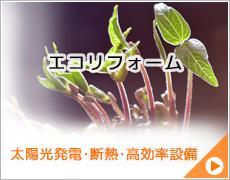エコリフォーム(太陽光発電・断熱・高効率設備)