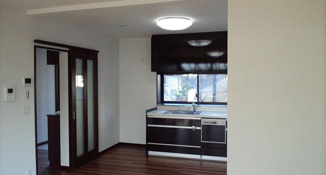 二世帯住宅施工例 リフォーム後:キッチン