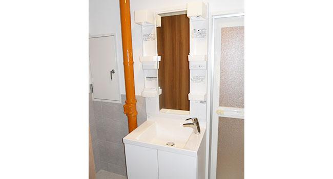 マンションスケルトンリフォーム施工例:洗面室